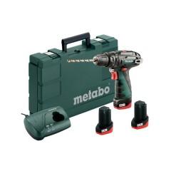 Metabo PowerMaxx SB Basic Set Kρουστικό Δραπανοκατσάβιδο Μπαταρίας 2 Ταχυτήτων 10,8V (3x2.0Ah) [6.00385.96]