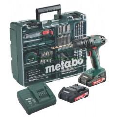 Metabo SB 18 Set [6.02245.87] Κρουστικό Δραπανοκατσάβιδο Μπαταρίας 18V 2 Ταχυτήτων - Κινητό Συνεργείο