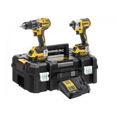 """DEWALT - DCK266M2 - BL [Brushless] Combopack XR 18V Σετ εργαλείων Παλμικό Κατσαβίδι DCF887M2 1/4"""" και 18V Κρουστικό δράπανο Brushless DCD796M2 σε DS150 ZAG Kit Box"""