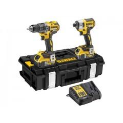 """DEWALT - DCK266P2 - BL [Brushless] Combopack XR 18V Σετ εργαλείων Παλμικό Κατσαβίδι DCF887P2 1/4"""" και 18V Κρουστικό δράπανο Brushless DCD796P2 σε DS150 ZAG Kit Box"""