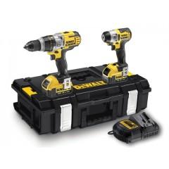 """Σετ εργαλείων Dewalt Combopack XR Compact 18V Μπουλονόκλειδο DCF895M2 1/4"""" και 18V Κρουστικό δράπανο DCD985M2 σε DS150 ZAG Kit Box"""