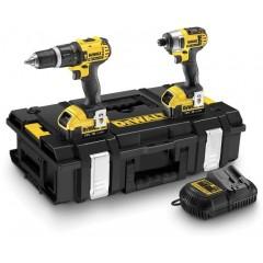 """Σετ εργαλείων Dewalt DCK285M2 Combopack XR Compact 18V Μπουλονόκλειδο DCF885M2 1/4"""" και 18V Κρουστικό δράπανο DCD785M2 σε DS150 ZAG Kit Box"""
