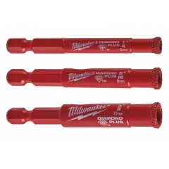 "Milwaukee 4932471771 Σετ  1/4"" Τρυπάνια Διαμαντοκορώνες Φ6 Φ8 Φ10"