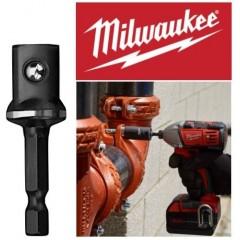 """Milwaukee 48325032 4932 4718 27Adaptor 1/4"""" εξάγωνο σε 1/2"""" τετράγωνο για καρυδάκια"""