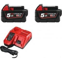Milwaukee 4933459217 M18 NRG-502 κιτ φορτιστή με 2 μπαταρίες 5.0Ah