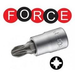 """FORCE  καρυδάκια 1/4"""" μύτη pozidriv 322321"""