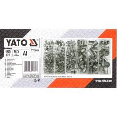 YATO YT-36460 Σετ περτσινιών πάσου αλουμινίου 150 τεμ