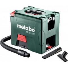 Metabo 6.02021.85 AS 18 L PC Σκούπα Γενικών Χρήσεων Μπαταρίας 18 Volt με χειροκίνητο φίλτρο καθαρισμού