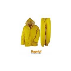 Kapriol αδιάβροχο σετ μπουφάν και παντελόνι, κίτρινο.