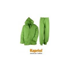 Kapriol αδιάβροχο σετ μπουφάν και παντελόνι, πράσινο.