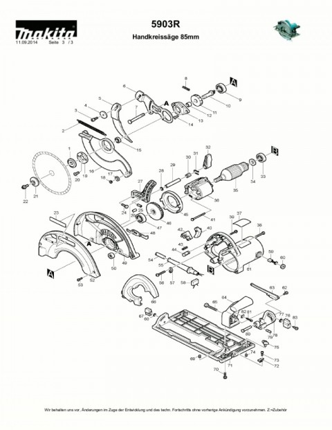 Ανάλυση εργαλείου MAKITA 5903R